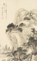 Dai Xi 1801-1860 LANDSCAPE AFTER WANG MENG.