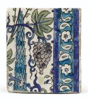 DAMASCUS POTTERY TILES, OTTOMAN SYRIA, 17TH CENTUR