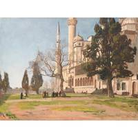 GEORG MACCO ; IN FRONT OF THE MOSQUE