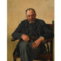 Isidor Kaufmann 1853-1921 PORTRAIT OF A SEATED GEN