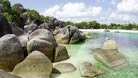 Rocks on the beach in Belitung Indonesia.