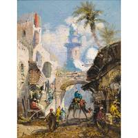 LOUIS-AMABLE CRAPELET; A BUSY STREET IN JAFFA