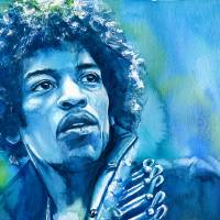 Jimi Hendrix Art Prints & Posters by Kelly Eddington