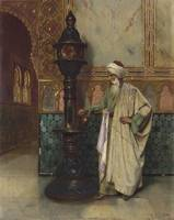 udolph Ernst , An Arab Elder in a Palace