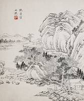 Yao Song 1648-1721 LANDSCAPE AFTER WANG MENG