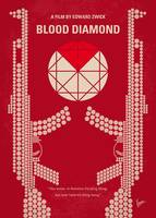 No833 My Blood Diamond minimal movie poster
