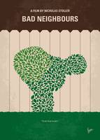 No840 My Bad Neighbours minimal movie poster