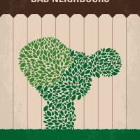 No840 My Bad Neighbours minimal movie poster Art Prints & Posters by Chungkong Art