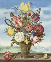 Ambrosius Bosschaert - Bouquet of Flowers on a Led