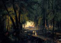 Forest path near Spandau  by Carl Blechen