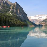 Lake Louise with Boathouse Art Prints & Posters by Carol Groenen