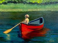 Boy in Red Canoe