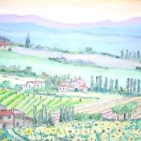 Val d'Orcia, Tuscany Art Prints & Posters by Teresa Dominici