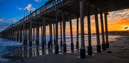 Sunset Under the Ventura Pier - The Long View
