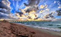 Juno Beach Pier Florida Sunrise Seascape D7 3
