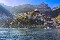 Cliff Side Town of Positano Viewed from the Sea