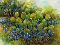 Bluebonnets and Cactus 2