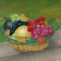 Fruit Basket Art Prints & Posters by Joan  L. Mester