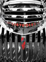 Chrome Chevrolet Car Front End