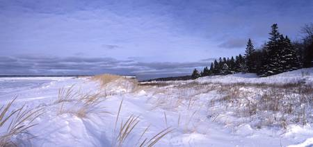 lake michigan winter coast north of luddington 200