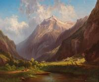 Georg Geyer (Vienna 1823-1912)  The valley of the