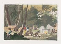 Bramali, South Pacific Settlement with Natives