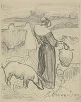 Breton Peasant or Woman with a Jug (Paysanne breto