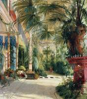 Carl Blechen - The inside of the palm house