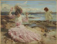 By summer seas, circa 1904, Scotland, by Charles S