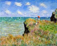 Clifftop Walk at Pourville  - Claude Monet