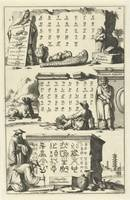 Coptic, Armenian and Chinese alphabet, Jan Luyken,