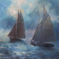 Passing Close To Port, Receiving News From Home Art Prints & Posters by Blaney Harris