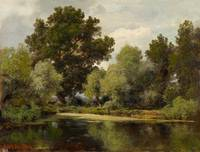 DREßLER, ADOLF Wroclaw 1833 - 1881 Wooded Pond Lan