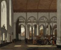 Emmanuel de Witte - Interior of the Oude Kerk, Ams