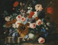 Franz Werner Tamm Still Life With Flowers On a Sto