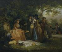 George Morland - The Anglers' Repast