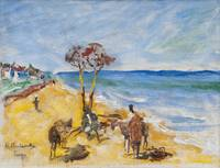 HUGO BACKMANSSON, ON THE BEACH.