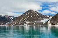 Magdalenafjord in Svalbard islands, Norway