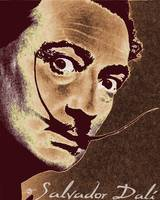 Salvador Dali Pop Art Painting And Signature