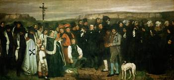 Gustave Courbet - Burial at Ornans 1850