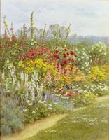 Helen Allingham - A Herbaceous Border