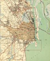 Vintage Map of Mobile Alabama (1940) 2