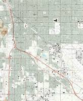 Tucson Arizona Map (1992)