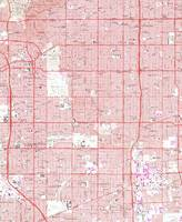 Vintage Map of Inglewood California (1964)