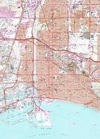 Vintage Map of Long Beach California (1964)