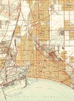 Vintage Map of Long Beach California (1949)