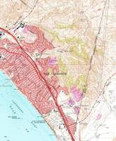 Vintage Map of San Clemente California (1968)