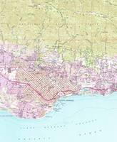 Vintage Map of Santa Barbara California (1952)