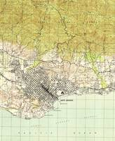 Vintage Map of Santa Barbara California (1944)
