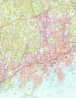 Stamford Connecticut Map (1987)